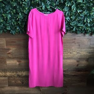 Babaton Thornton Pink 100% Silk Sheath Dress NWOT